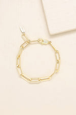 Interlinked 18kt Gold Plated Chain Bracelet