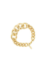Big, Bad and Bold 18k Gold Plated Chain Link Bracelet