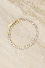 Giselle Sparkle Crystal 18k Gold Plated Bracelet