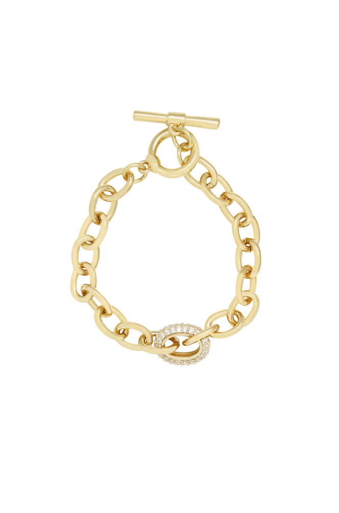 True to You 18k Gold Plated Chain Bracelet
