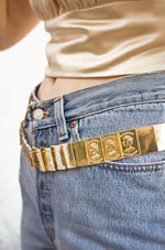 Flat Gold Bar Belt