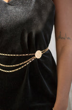 Multi-Chain Coin Dangle Belt in Gold