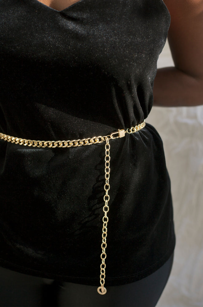 Gold Rush Chain Link Belt
