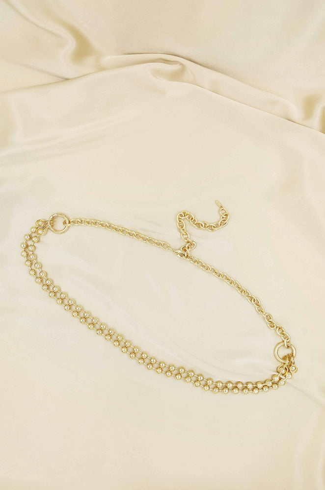Double Ball Chain Gold Belt