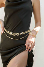 Crystal Interlocking Loops Chain Belt