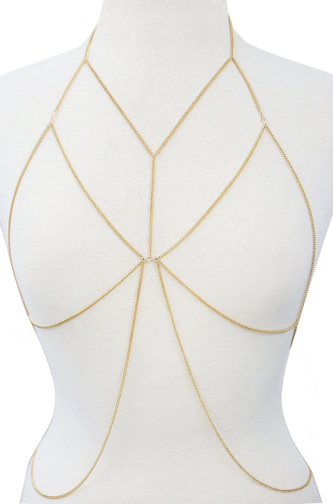Amazing Armor Chain Bralette in Gold