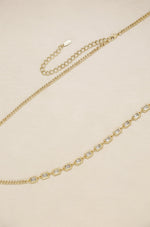 Iris Crystal and Gold Body Chain