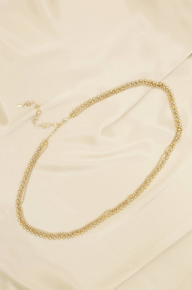 Ball and Chain Gold Body Chain