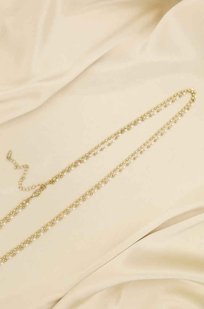 Pearl Strand Gold Body Chain
