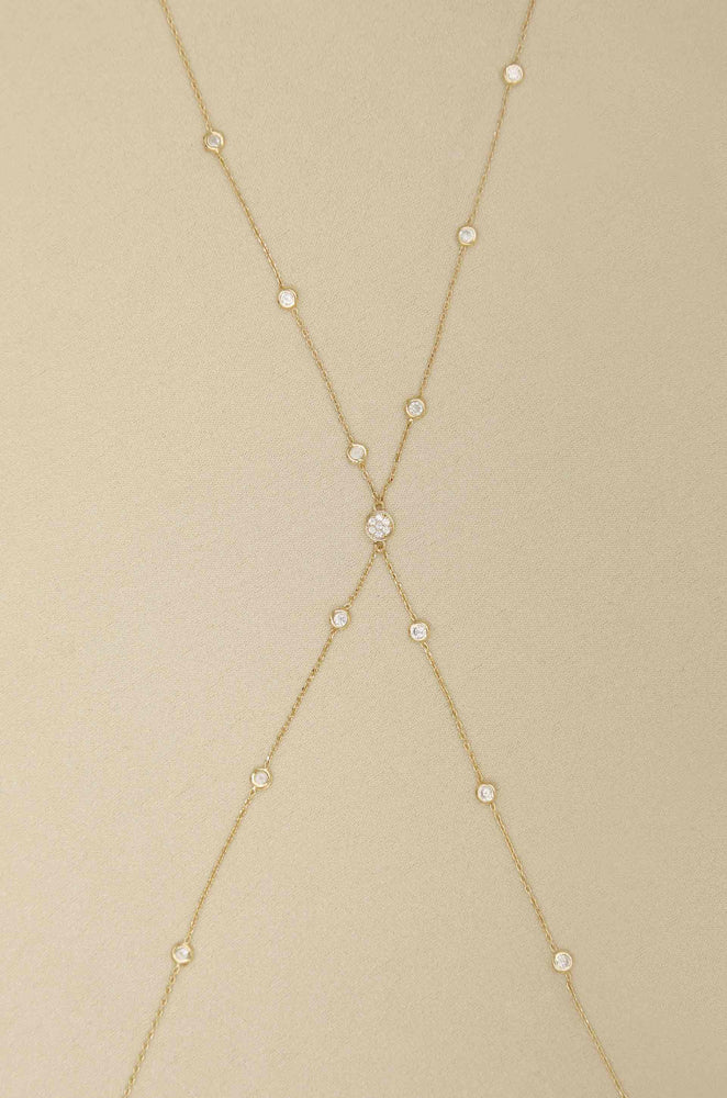Simple Crystal X Body Chain
