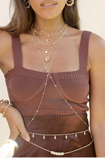 Single Strand Gold Plated Body Chain