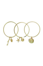 Beach Life Bangle Set in Gold