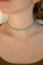 Still Surprise You 18k Gold Plated Choker in Turquoise