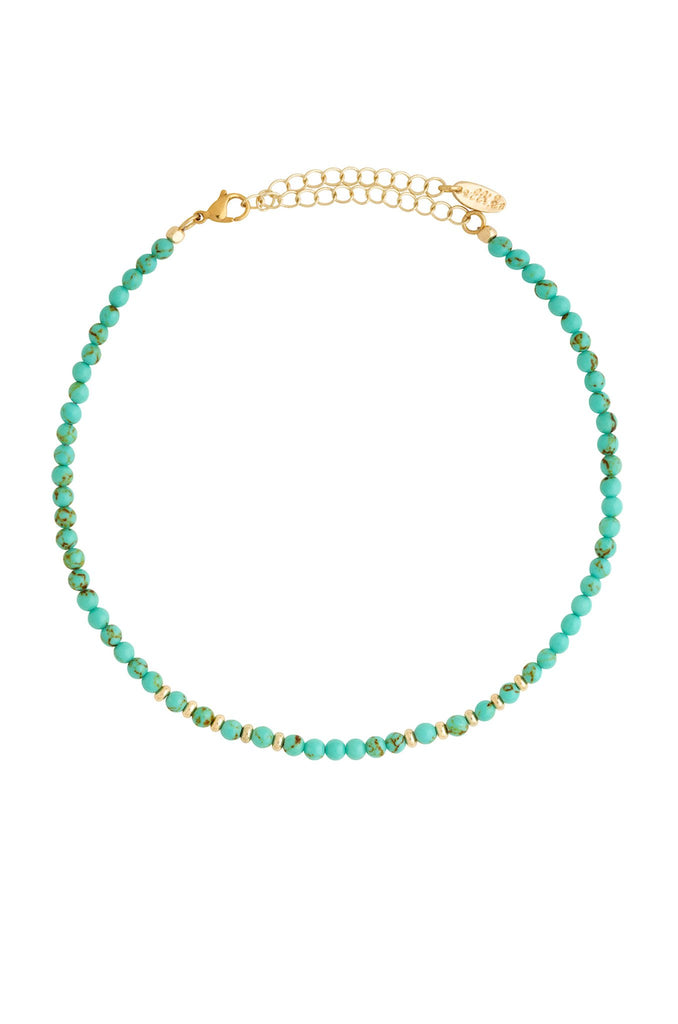 Still Surprise You Choker in Turquoise and Gold