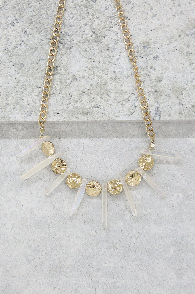 The Crystal Cove 18k Gold Plated Choker