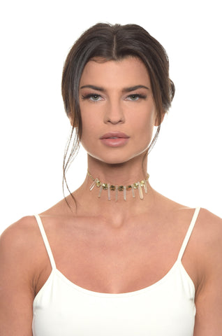 The Crystal Cove Choker in Gold