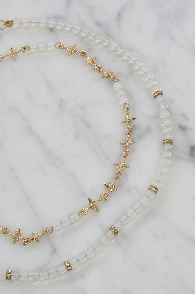 Hollywood Starlette Choker Set in Opal and Gold
