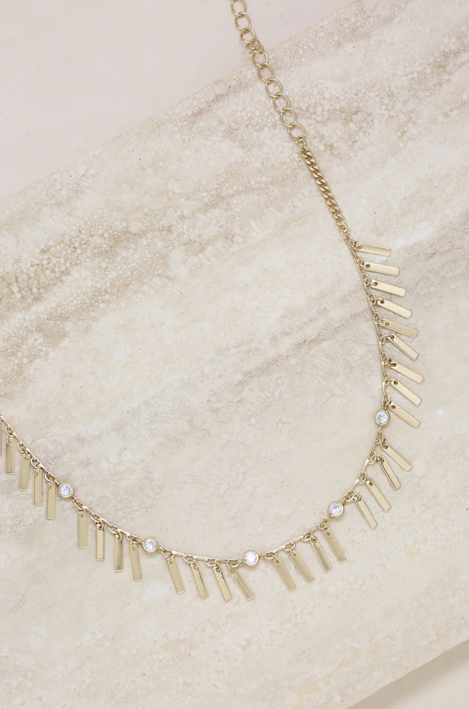 Piano Keys Choker in Gold