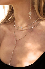 Forever Star Fall 18k Gold Plated Multi-Chain Choker