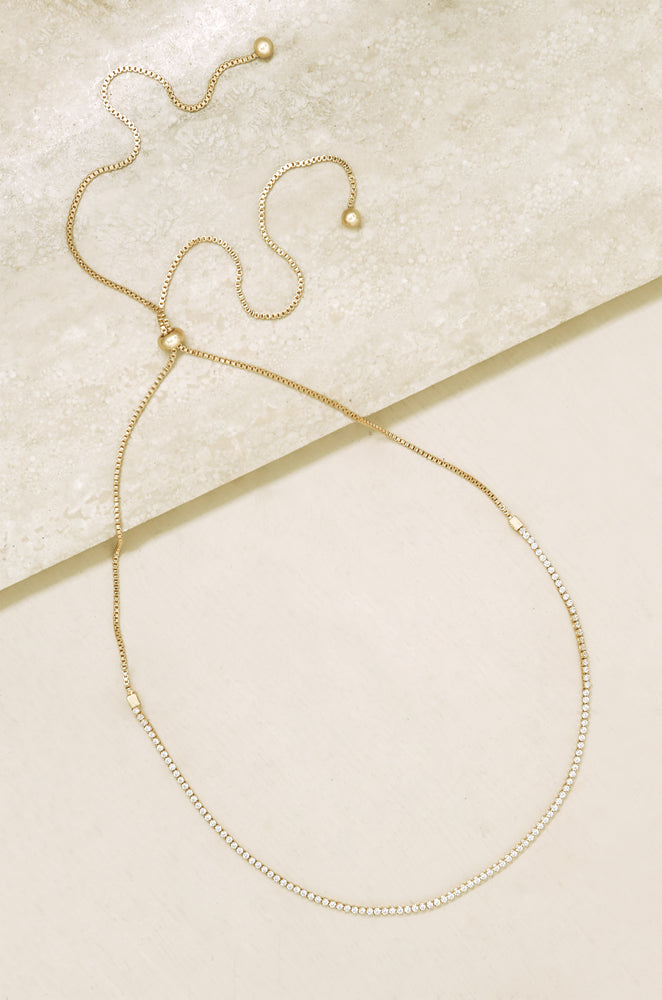 Adjustable Box Chain 18k Gold Plated Choker