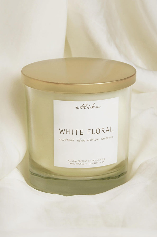White Floral 8oz Candle
