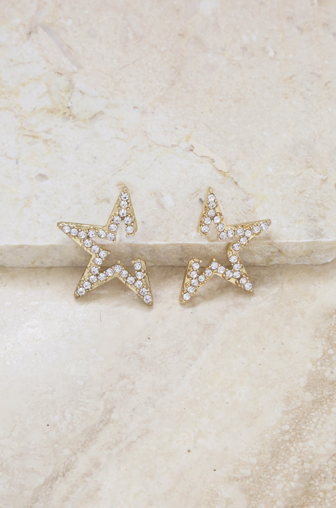 Star Light Earrings in Gold