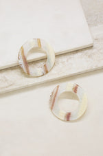 Perfect Pair Neutral Resin Hoops