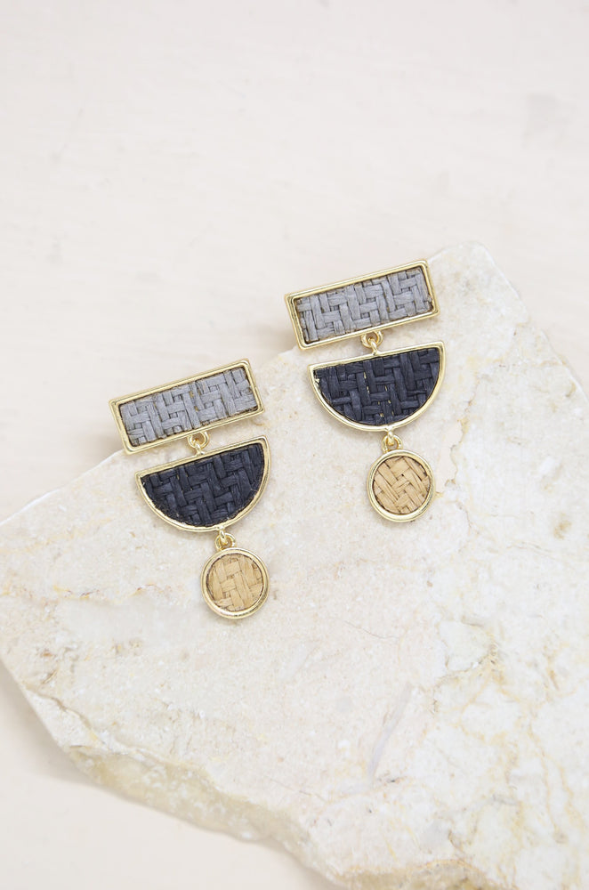 Grayscale Boho Statement Earrings