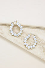 Statement Crystal Hoop 18k Gold Plated Earrings