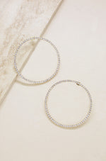 Picture Perfect Crystal Circle 18k Gold Plated Earrings