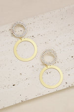 Circle Crystal Tribe 18k Gold Plated Earrings