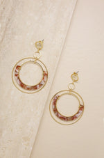 Neptune's Moon Blush Resin Hoops