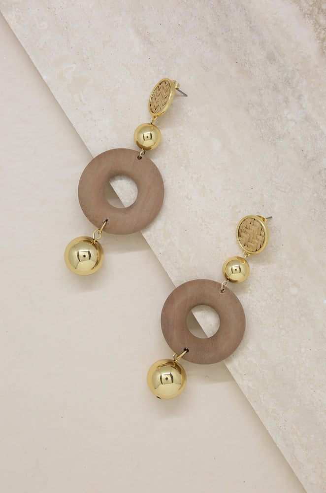 Beachwood Statement Earring with Gold