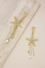 Starfish Seeker 18k Gold Plated Drop Earrings