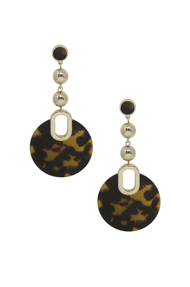 Wild Side Tortoise Resin Dangle Earrings