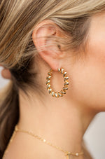 Landline 18k Gold Plated Hoop Earrings