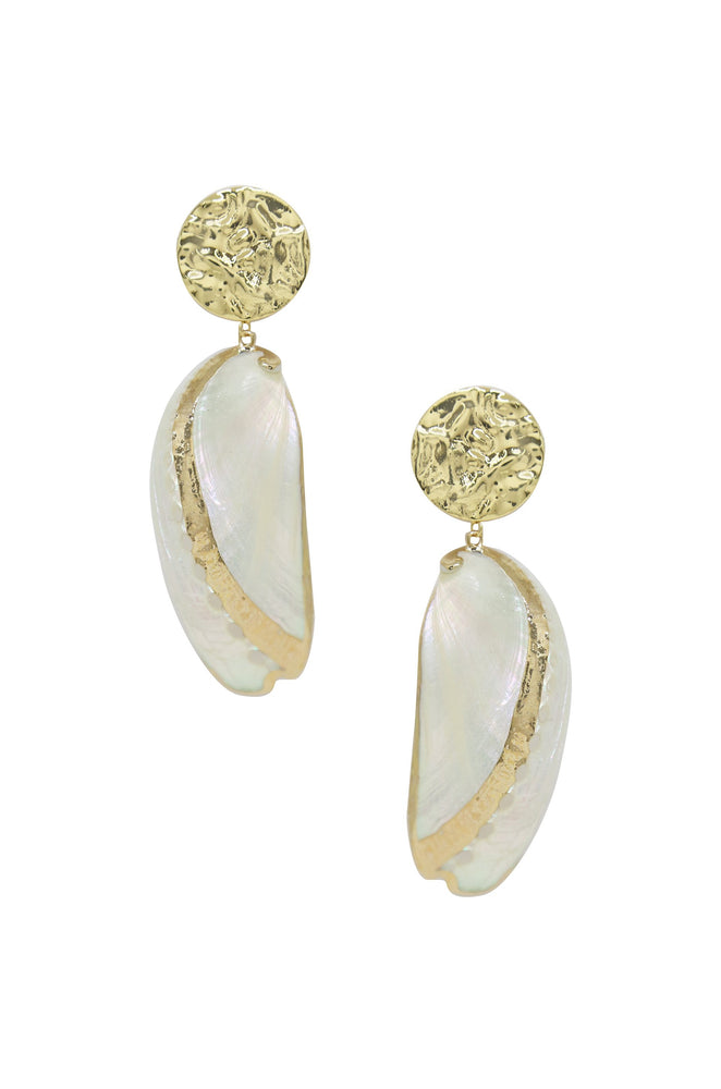 Down the Shore Earrings in Gold