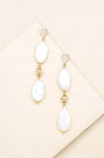 Freshwater Pearl Double Drop Earrings