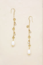 Delicate Dangle Freshwater Pearl Earrings
