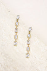 Cleo Crystal Drop 18k Gold Plated Earrings
