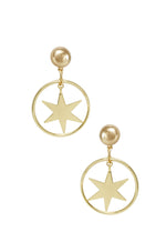 Dramatic Star Hoop 18k Gold Plated Earrings