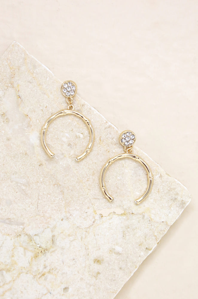 Crystal Monarch 18k Gold Plated Earrings