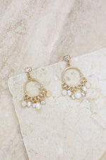 These Moments Pearl 18k Gold Plated Dangle Earring