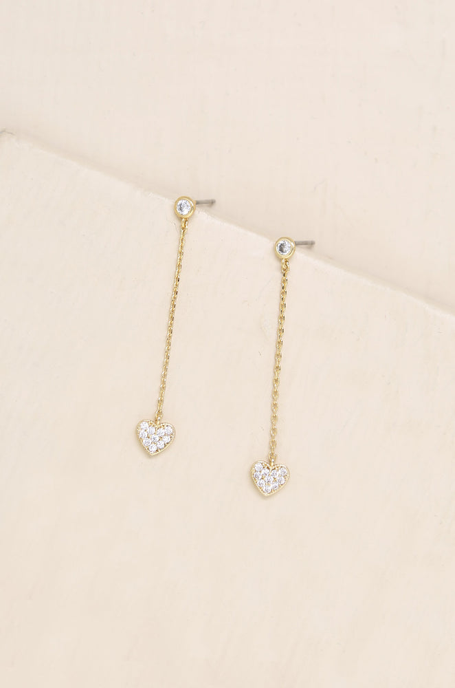Lots of Love Chain & Heart Drop Studs