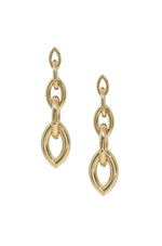 Gradual 18k Gold Plated Chain Link Earrings on white background