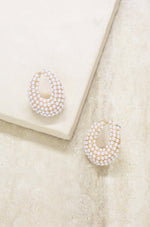 Classic Pearl Cluster 18k Gold Plated Stud Earrings