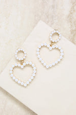 Loving Pearl Heart & 18k Gold Plated Earrings