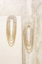 Crystal Drape Fringe Earrings
