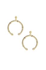Wishful Thinking 18k Gold Plated Bamboo Earrings