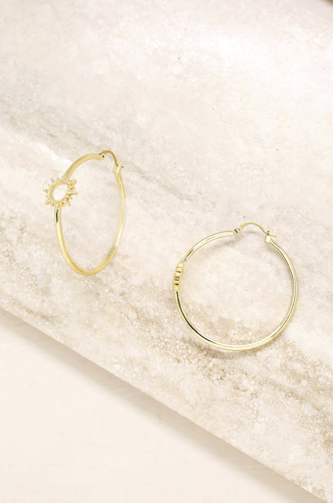 Solstice 18k Gold Plated Hoop Earrings